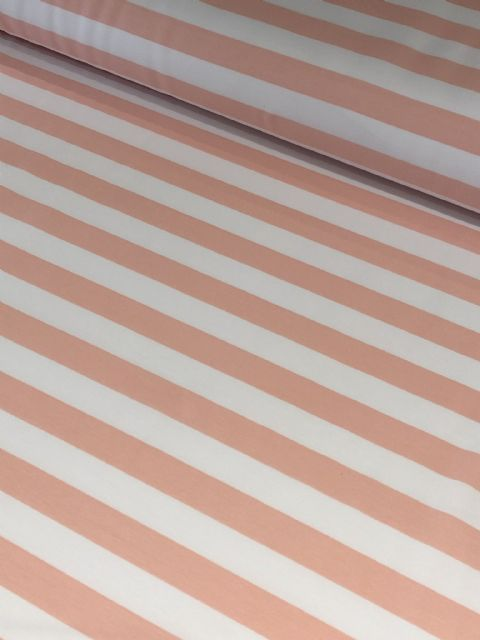 Peach and White Stripe - Fitzroy Raglan